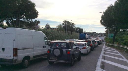 Traffico impazzito stamani, A18 (www.sikilynews.it)